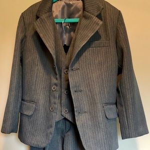 Little Boys Pinstriped 3 Piece Suit